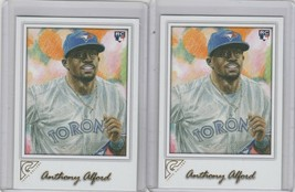 2017 Topps Gallery Baseball #82 Anthony Alford RC Toronto Blue Jays Lot ... - $1.14