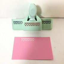 Martha Stewart Punch Doily Trellis Lace Edge Border RARE Green Scrapbooking  - $23.98