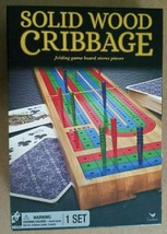 Cardinal Solid Wood Cribbage Game One Set New. Game Board Stores Pieces - $10.00