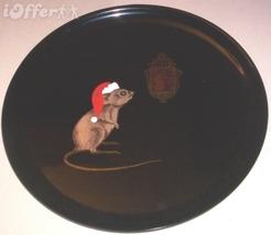 """EAMES ERA MID CENTURY MODERN-- CHRISTMAS SANTA MOUSE ROUND TRAY 10 3/8"""" - $29.95"""