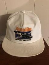 Autolite Import Advisor Hat White Snapback Trucker Cap  - $10.10