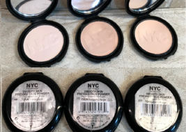IMPERFECT* NYC New York Color SMOOTH SKIN Pressed Face Powder Compact YO... - $8.53