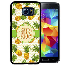Monogram Rubber Case For Samsung Note 8 5 4 3 Pineapple Chevron Summer Fruit - $12.98