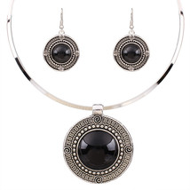 Jewelry Sets Vintage Round Collars lace Earrings Gifts TL9144 - $11.99