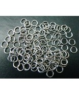 5mm White gold plated 20 gauge open  jump rings 100 pcs attach charms  f... - $1.30