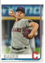 Trevor Bauer 2019 Topps Card #110 Cleveland Indians Free Shipping - $1.09