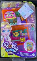 Polly Pocket Jungle Safari Compact, 2 Micro Dolls, Sloths & Accessories NEW - $27.49