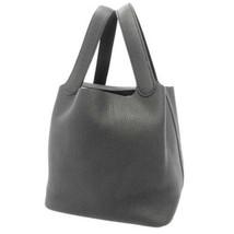HERMES Picotin Lock MM Taurillon Clemence Noir Handbag #D France Authentic - $4,297.05
