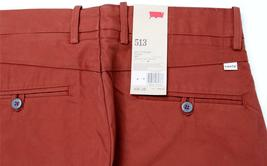 NEW LEVI'S 513 MEN'S SLIM STRAIGHT FIT COTTON PANTS TROUSER 513-0007 SIZE 38X30 image 6