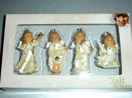 Goebel Angel Relief Ornaments Champagne, Set of 4 #828141 New Boxed - $23.99