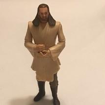 "Qui Gon Jinn Star Wars Action Figure Hasbro 1998 Phantom Menace Jedi Toy 4"" - $2.95"