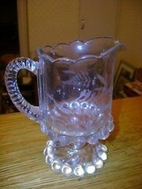 Early Old Westmoreland Ball & Swirl Glass Pitcher Etech - $10.89