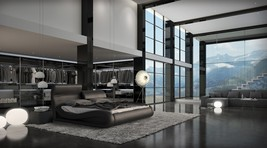 Modrest Caledonia Modern Black Bed - £1,025.94 GBP