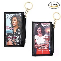 Michelle Obama printed Fashion Coin Purse with Key Ring, 2-Pack Style #1 - $12.66