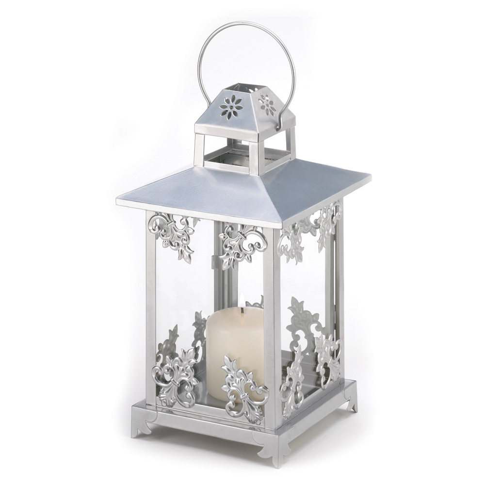 Silver Scrollwork Candle Lantern 10039891