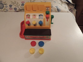 Vintage Fisher-Price Cash Register No. 926 With Coins w 4 Coins, Works 1... - $17.75