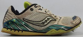 Saucony Velocity 3 Size 8.5M (B) Ue 40 Mujer Track Zapatos Blanco Verde 10037-1