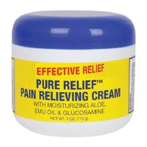 EFFECTIVE RELIEF PURE RELIEF PAIN RELIEVING CREAM Glucosamine Aloe Emu O... - $7.84