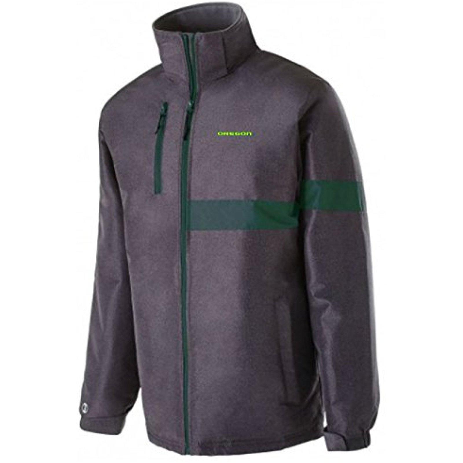 NCAA Oregon Ducks Men's Raider Jacket, Medium, Carbon Print/Dark Green