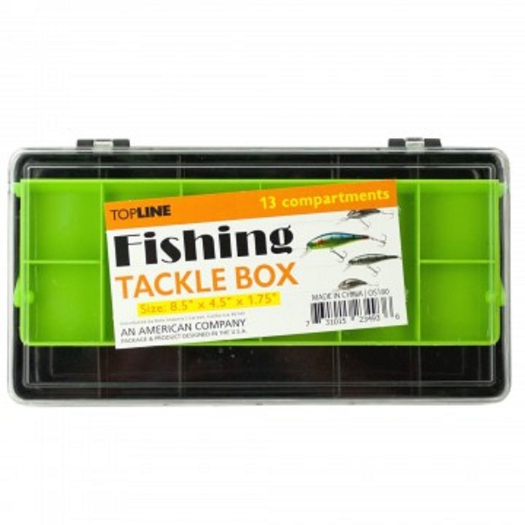 Multi-Level Fishing Tackle Box - One Item w/Random Color and Design