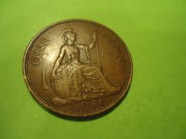 1946 BRITISH-ENGLISH Large Cent We Combine Shipping & Handling - $4.00