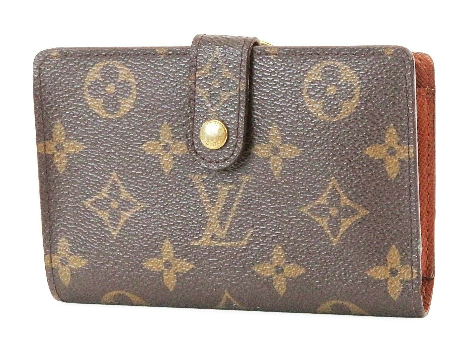 Primary image for Authentic LOUIS VUITTON French Kisslock Monogram Wallet Coin Purse #37200
