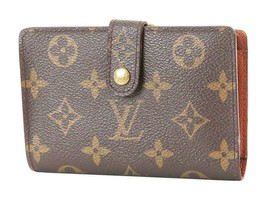 Authentic LOUIS VUITTON French Kisslock Monogram Wallet Coin Purse #37200 - $295.00