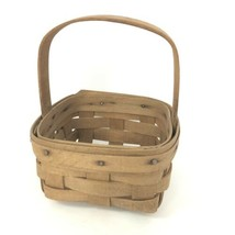 "Longaberger 2005 small basket approx 4"" X 6"" X 3.5"" high - $16.14"