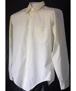 Men's Long Sleeve Dress Shirt Van Huesen Size 15.5 - 34/35 Solid Yellow - $8.90