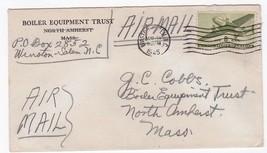 BOILER EQUIPMENT TRUST WINSTON SALEM, NC MAY 31 1945 AIR MAIL - $1.78