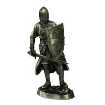 """Medieval Crusader Knight Statue Bronze Finishing Cold Cast Resin Statue 7"""" (9960 - $19.99"""