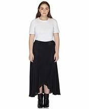 Benares Black Womens Wrap Skirt - Viscose Long Wrap Around Skirt - Plus Size,1X