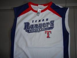 Texas Rangers Screen Sleeveless Jersey Youth 2XL MLB Baseball Excellent - $20.78
