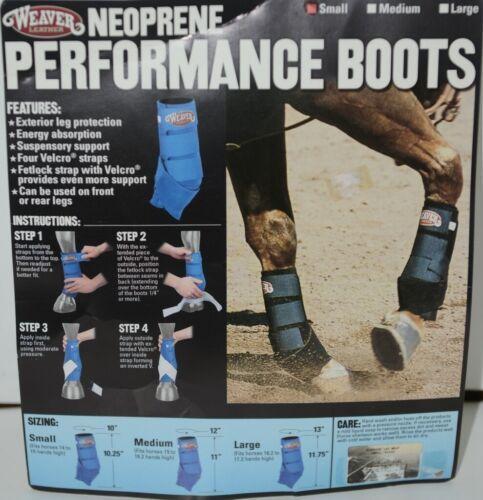 Weaver Leather 35 4215 BK Neoprene Performance Boots Small Black Package 2