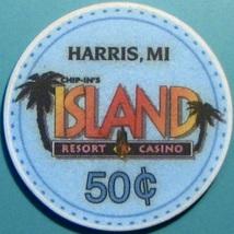 50¢ Casino Chip. Island, Harris, MI. V46. - $3.99
