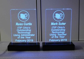 Battery operated LED Rechargeable  Name Plate, Custom Sign - Award - Trophy - $86.13+