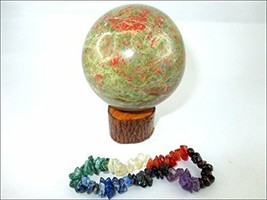 Jet Unakite 45 - 50 mm Ball Sphere Gemstone A+ Hand Carved Crystal Altar - $23.74