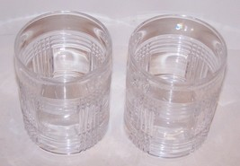 "PAIR OF SIGNED RALPH LAUREN CRYSTAL GLEN PLAID 4"" OLD FASHIONED/WHISKEY GLASSES image 2"