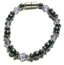 Beaded Bracelet Magnetic Hematite Clasp Single Strand   7 Inch   (MAG-015) image 2