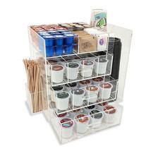 NEW! ACRYLIC COFFEE STATION - KEURIG KCUPS/CREAMER/SUGAR/CUPS/STIRRER OR... - $89.05