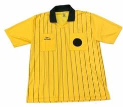 Adult SCORE Referee Jersey Shirt Size M Yellow Black Stripe Short Sleeve... - $9.89
