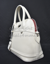 Dooney & Bourke Florentine Toscana Domed Leather Satchel/Shoulder Bag in Bone - $299.00