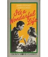 VINTAGE It's a Wonderful Life VHS Cassette James Stewart Donna Reed - $14.84