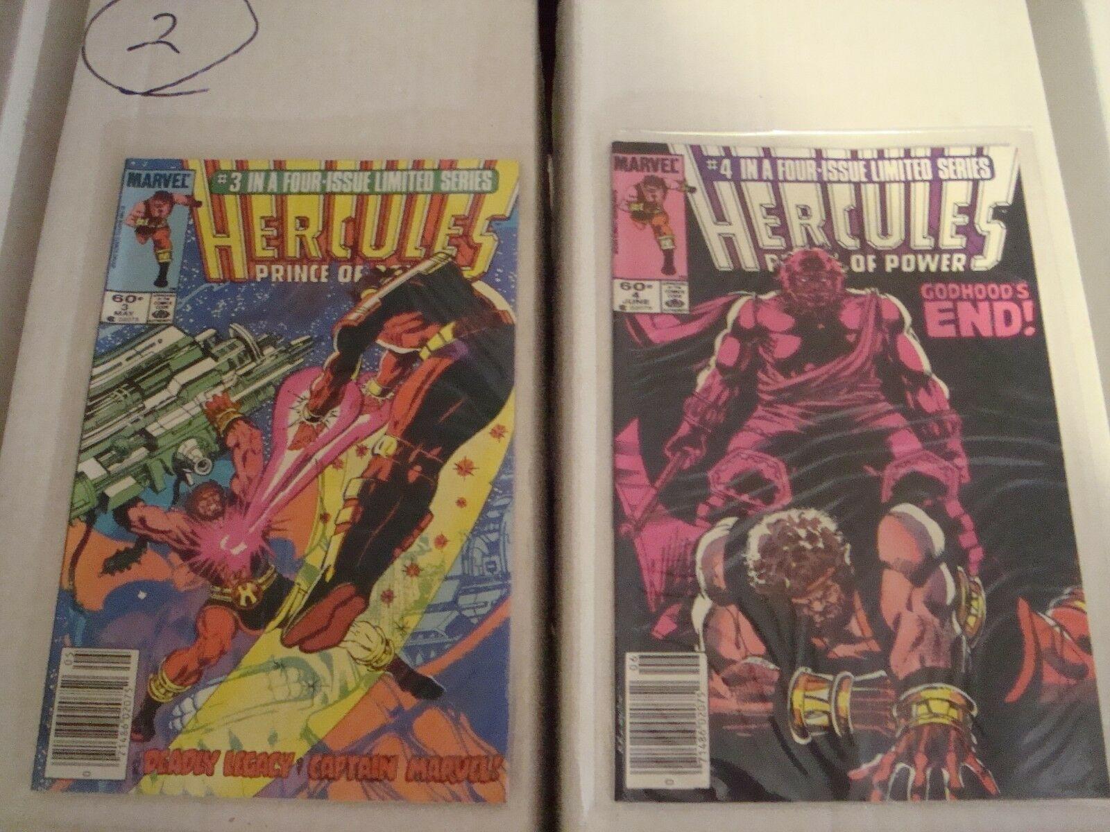 Hercules Prince of Power Original Marvel Comic Book Minis Series 1 - 4 From 1984