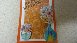 Blank handmade Happy Birthday greeting card  - $3.25