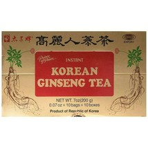 Prince Of Peace Kor EAN Ginseng Instant Tea 10 Foil Packets - $6.90