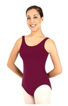 Body Wrappers 151 Girls Large 12-14 (fits 8-10) Burgundy High Neck Tank Leotard - $9.89
