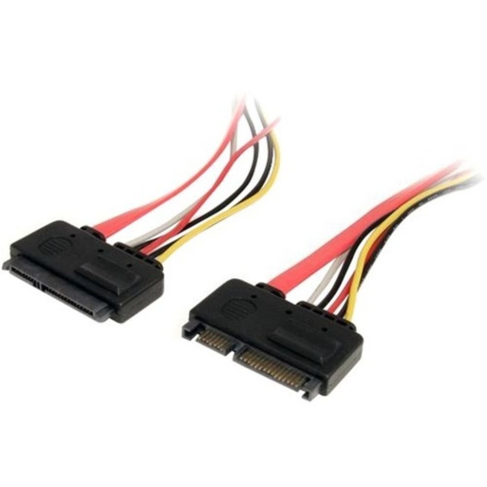 StarTech.com 12in 22 Pin SATA Power and Data Extension Cable - SATA for Hard Dri - $23.06