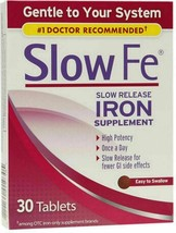 SLOW FE SLOW RELEASE IRON SUPPLEMENT 30 TABLETS