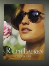 1990 Ralph Lauren Eyewear Ad - $14.99